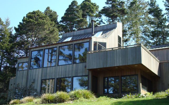 Sebastopol Architect Doug Murray - Nolan House, west elevation - ocean view